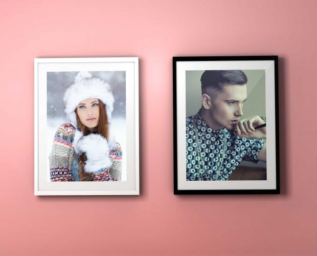 colourful frame psd mockup