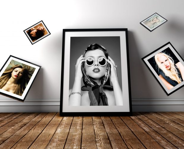 Gravity Photo Frame Mockup